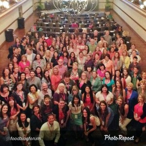 "All of my homies. Having such a great time!!! Photo by @foodblogforum ""Our big, happy Food Blog Forum family. #FBFAsh"""