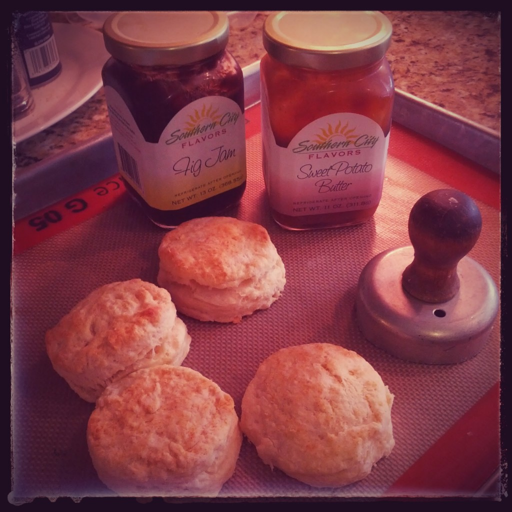 Biscuits and local toppings