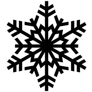 Snowflakes-silhouette